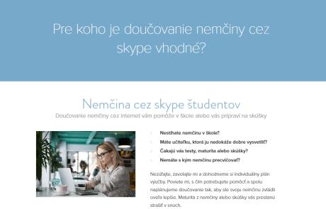 Pripravili sme webdesign a texty pre web Nemcina-online.sk | Webovica.sk