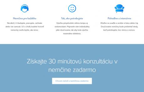 Webový copywriting a web design pre stránky Nemcina-online.sk | Webovica.sk
