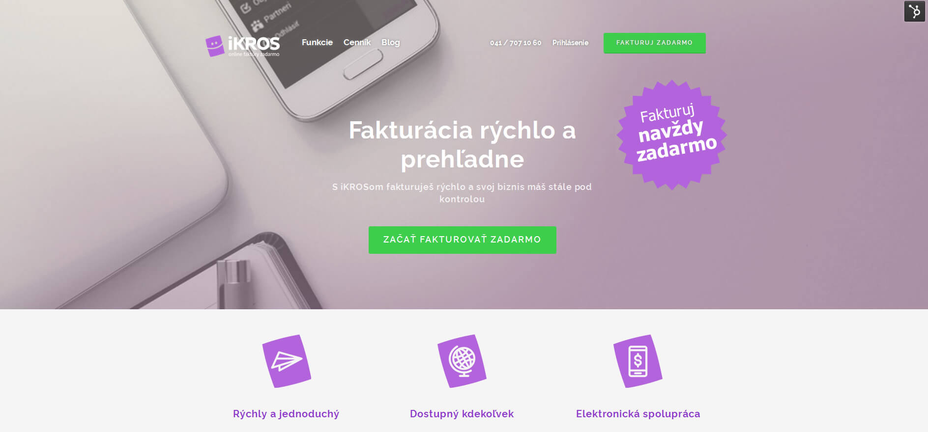 Spolupráca na webdesignu stránky iKROS | Webovica.sk