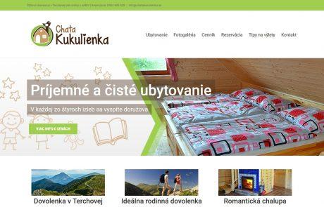 Navrhli sme moderný a responzívny web pre Chatu Kukulienka | Webovica.sk
