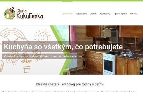 Vytvorili sme nový web chatakukulienka.sk | Webovica.sk