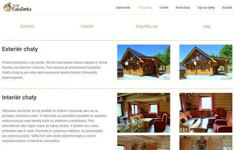 Navrhli sme štruktúru stránok chatakukulienka.sk | Webovica.sk