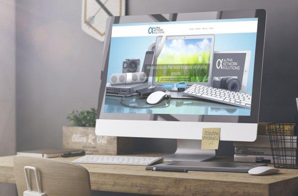 Tvorba web stránky pre dodávateľa elektroniky alphanetworksolution.com   Webovica.sk