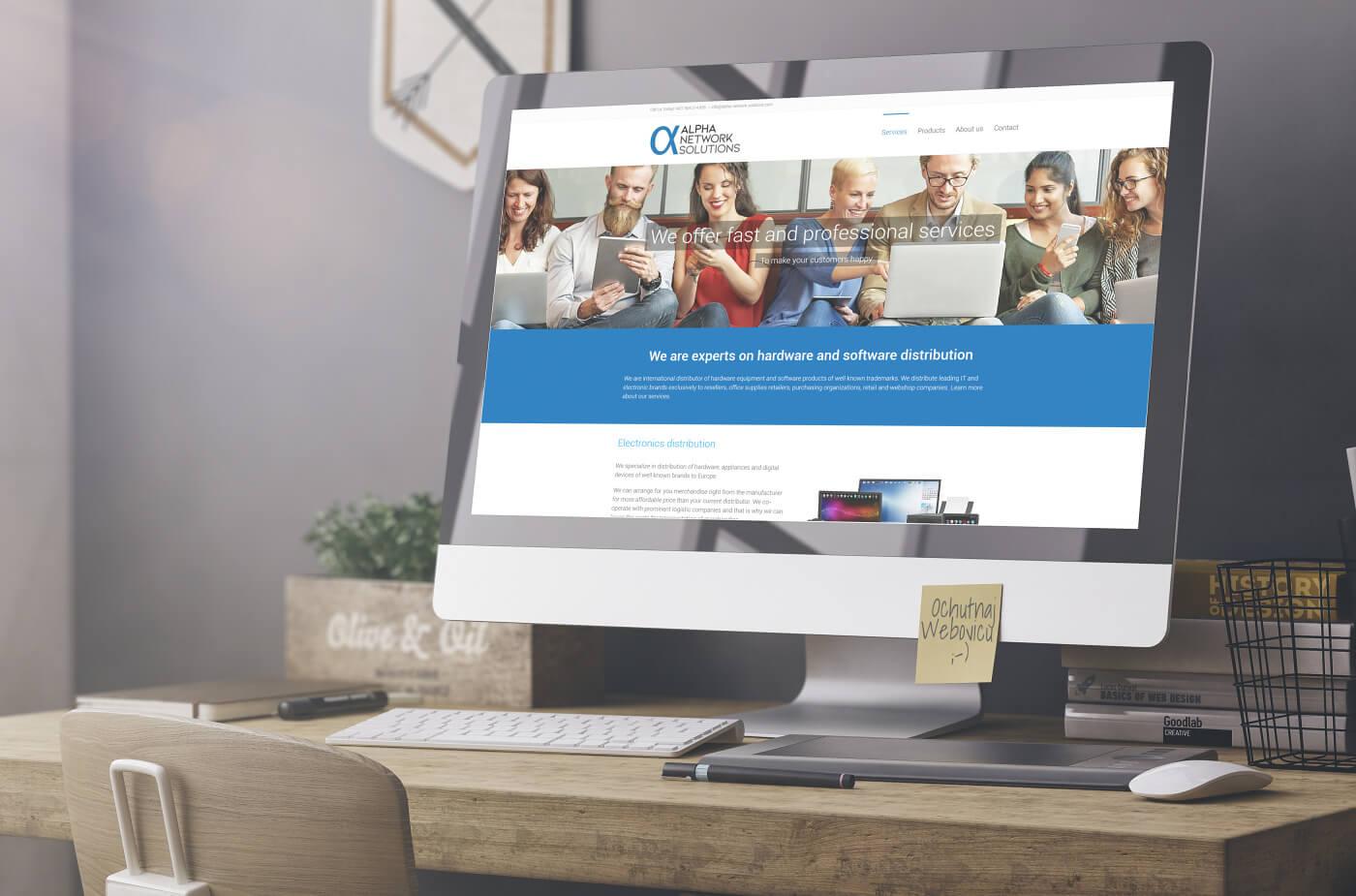 Tvorba web stránky pre dodávateľa elektroniky alphanetworksolution.com | Webovica.sk