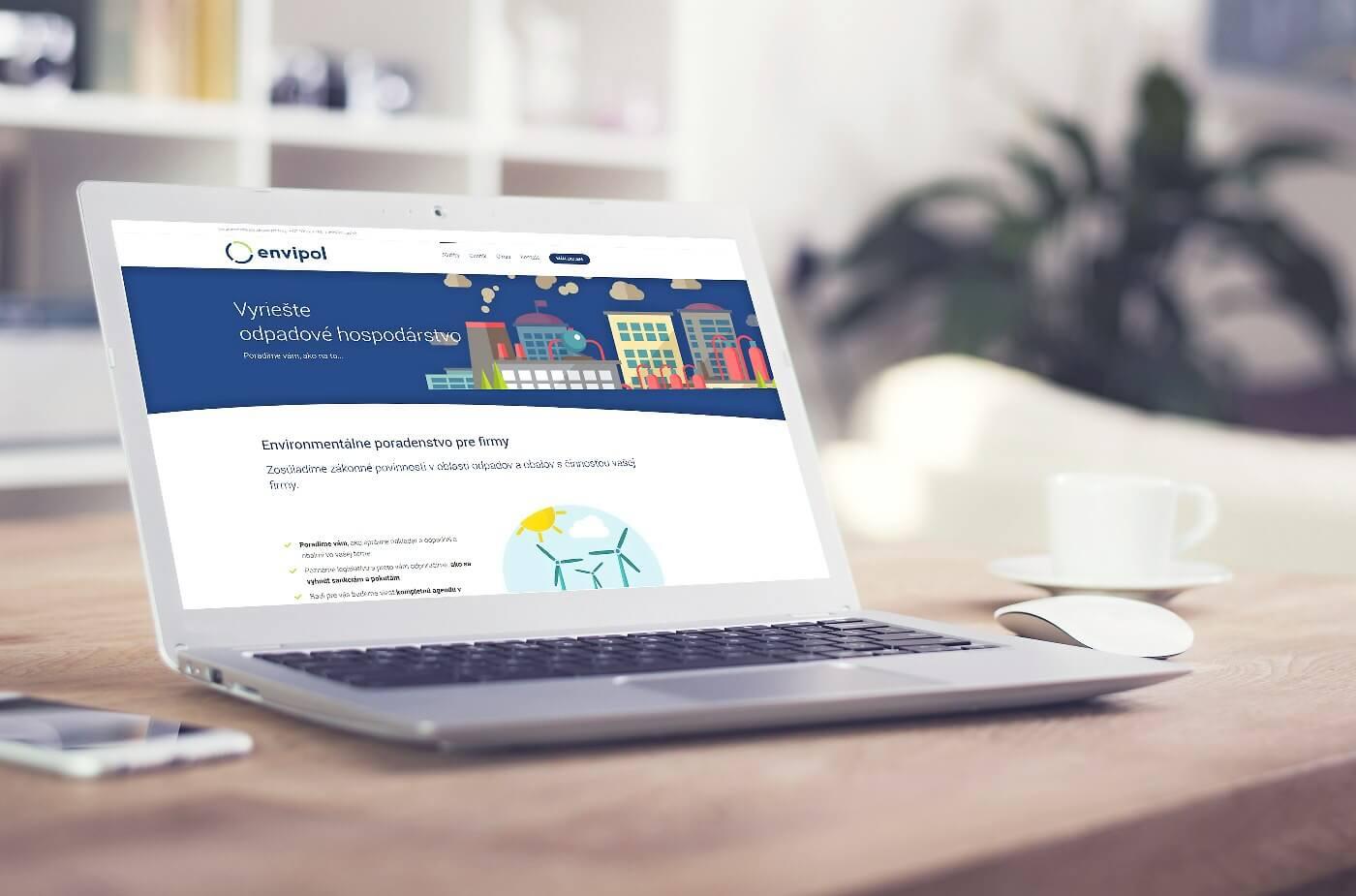 Tvorba modernej webovej stránky - www.envipol.sk | Webovica.sk