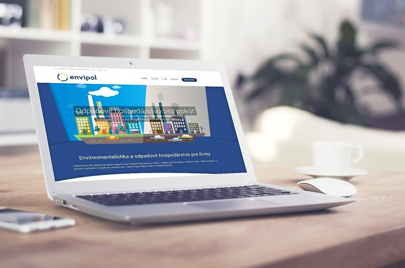 Návrh a dizajn web stránky www.envipol.sk | Webovica.sk