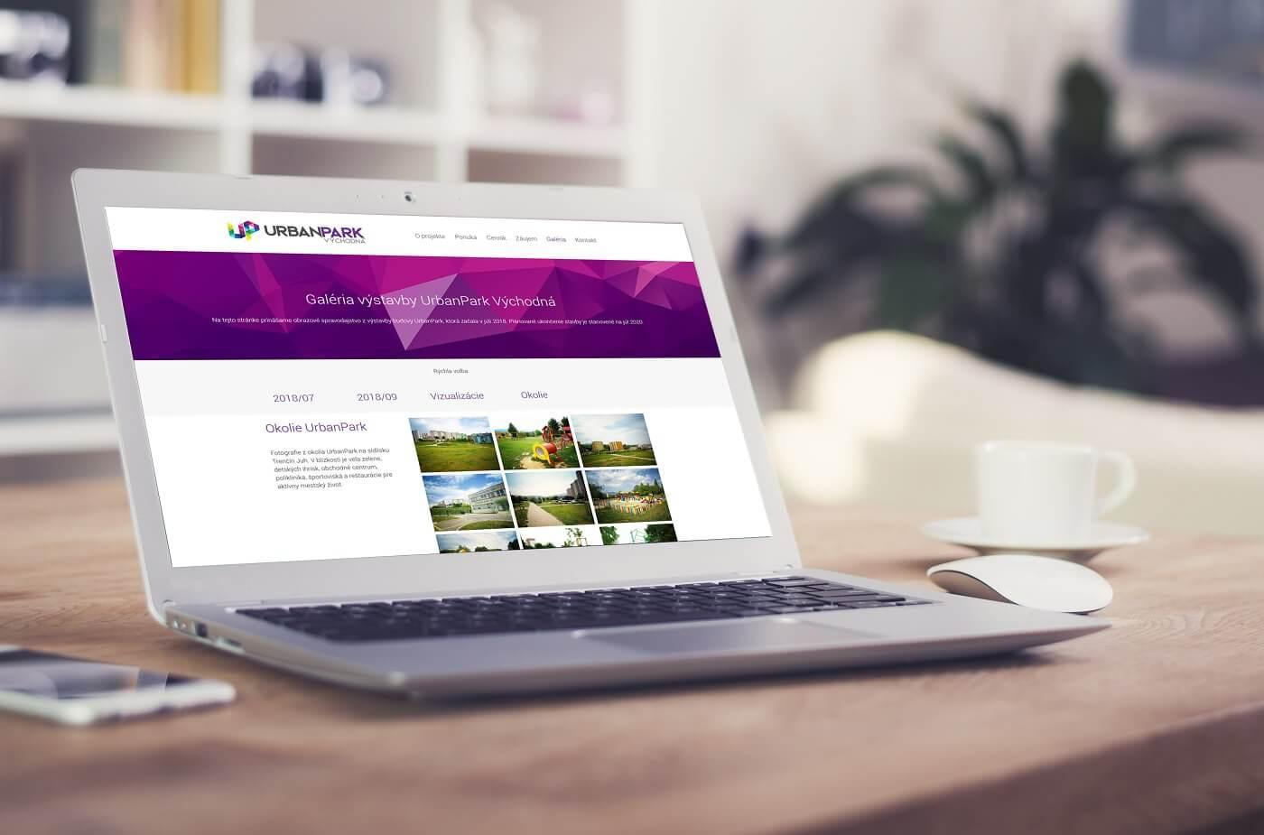 Tvorba webovej stránky pre predaj bytov - urbanpark.sk | Webovica.sk