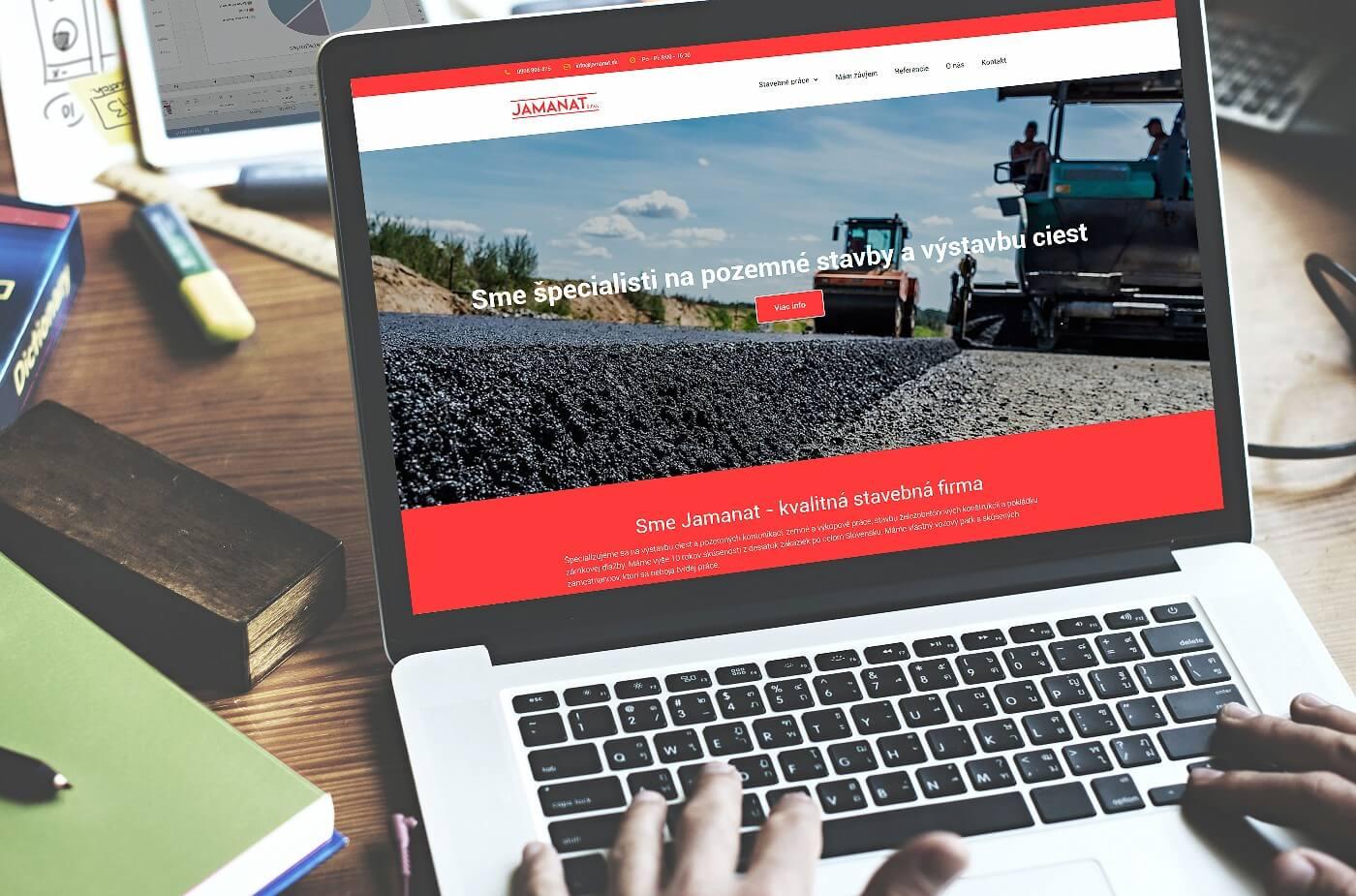 Tvorba web stránky www.jamanat.sk | Webovica.sk