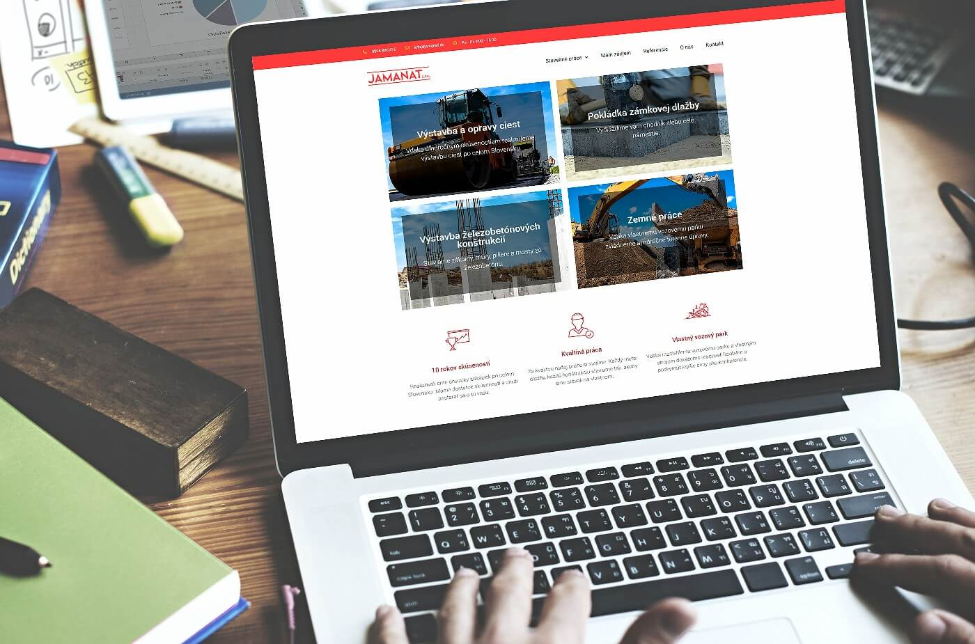 Tvorba webovej stránky www.jamanat.sk | Webovica.sk