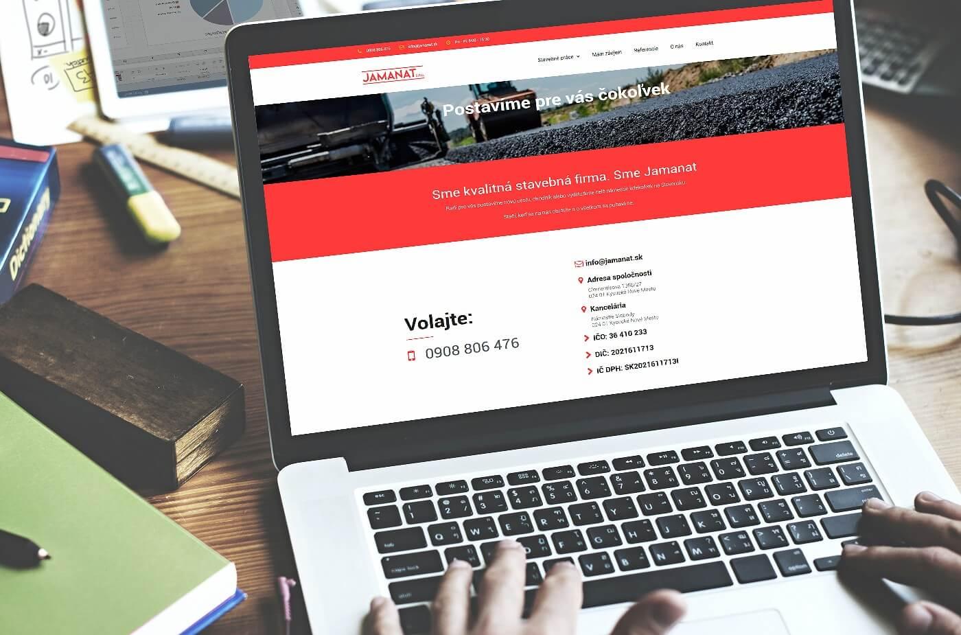 Vytvorenie web stránky jamanat.sk | Webovica.sk