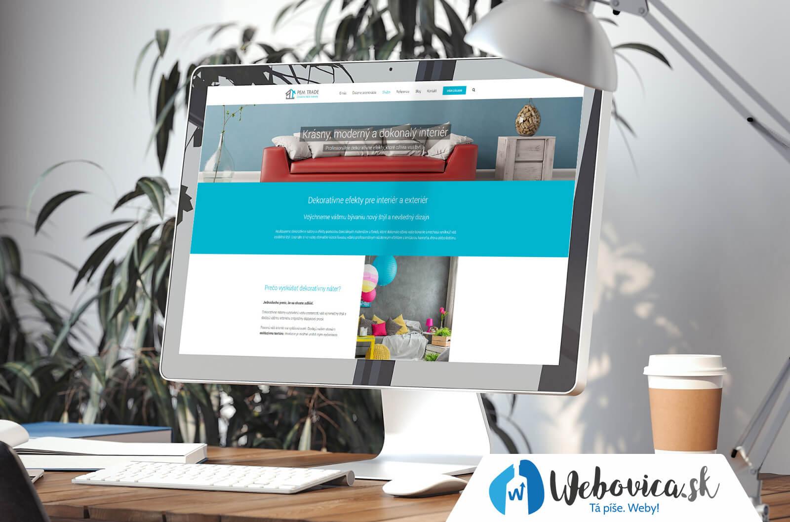Tvorba webovej stránky pre firmu - www.pemtrade.sk | Webovica.sk