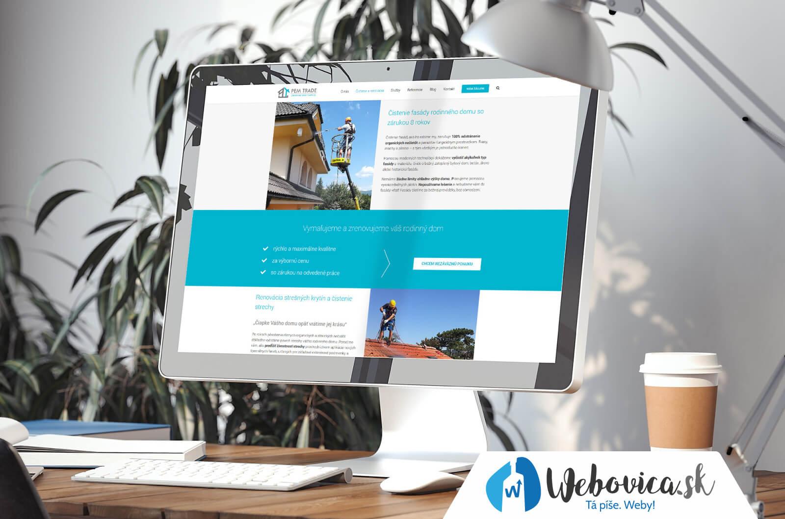 Tvorba web stránky - pemtrade.sk | Webovica.sk