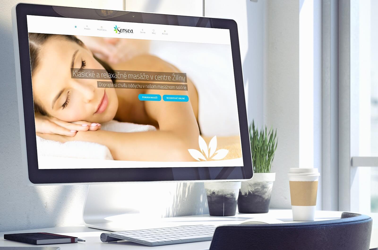 Tvorba webovej stránky pre masážny salón www.sensea.sk | Webovica.sk
