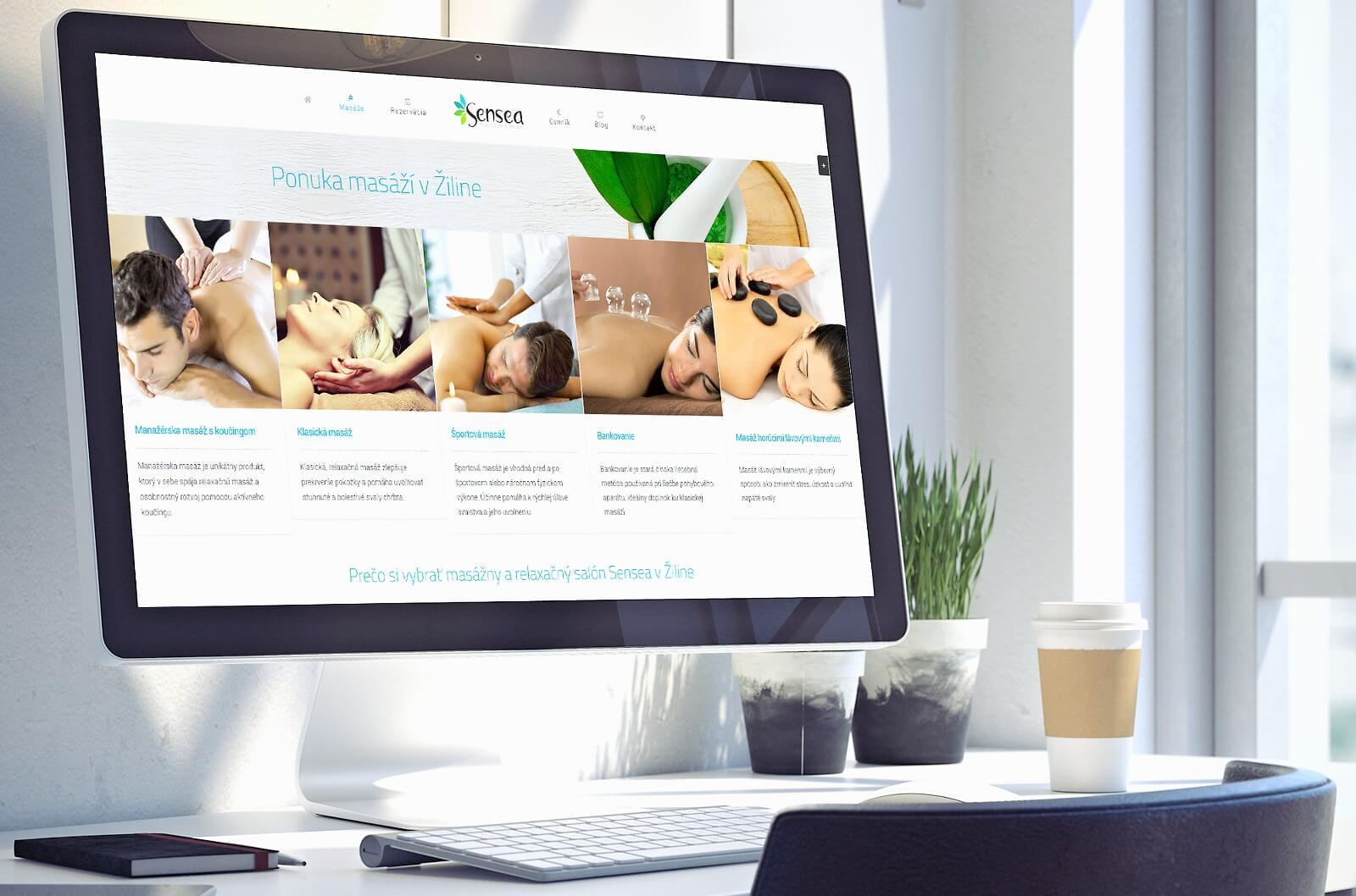 Návrh a dizajn web stránky pre masážny salón www.sensea.sk | Webovica.sk