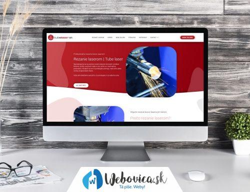 Tvorba loga a webu Tubelaser.sk