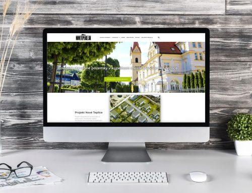 Tvorba web stránky pre predaj pozemkov Nové Teplice